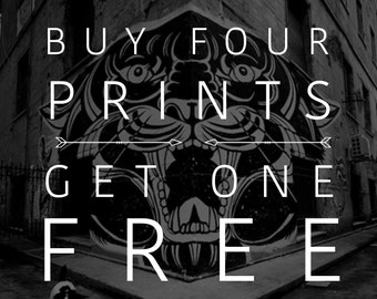 Buy Four Prints Get One Free // Wall Art - Home Decor - Rustic Home Decor // Boho Print - Bohemian Decor // Classroom Poster - Quote Poster