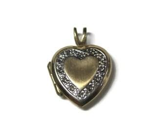 Small Vintage 10K Heart Locket Pendant