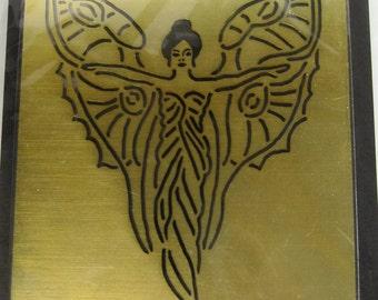 Heritage Handcrafts Deco Fairy Brass Embossing Stencil