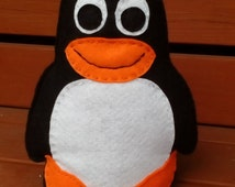 Felt Penguin, Toy Penguin, Childrens Toy, CE Tested, Hand Stitched, Felt Toys, Felt Animals, Penguin Toy, Nursery Toy, Black, White