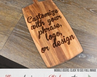 Custom Wood Cheese Board, Paddle Board