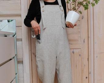 Ladies linen gardening overalls