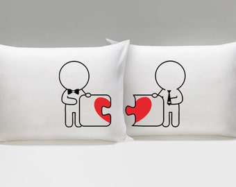 His and His Pillow Cases, Made for Each Other Gay Couple Pillowcases, Gay Couples Gifts, Gay Valentine, Gay Wedding Gifts, Gay Gift