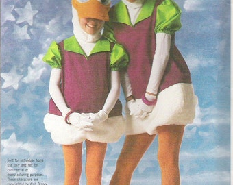 DAISY DUCK COSTUME, Vintage Simplicity Pattern 7734, Walt Disney Character Costume, Child Sizes 2-4, New, Uncut