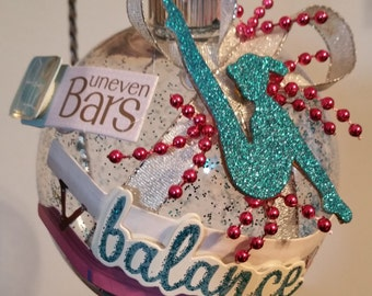 Gymnastics Christmas Ornament - Balance Beam with Gymnast
