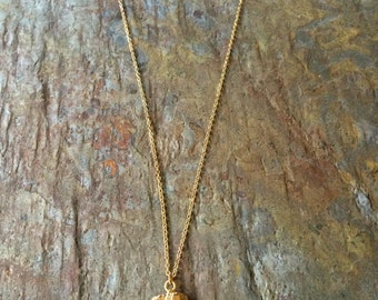 Kyanite pendant gold necklace