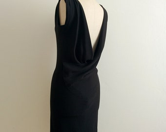 Balenciaga black silk dress