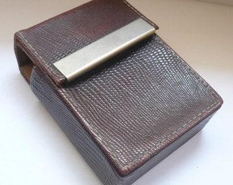 Vintage brown  Cigarette Case