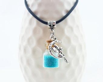 Fairy Necklace - Fairy Jewelry - Magic Fairy Bottle - Faerie Necklace - handmade fairy necklace - moon fairy necklace - handmade fairy gift