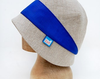 French linen sun hat with silk ribbon |©ZUTmathilde linen cloche with ribbon