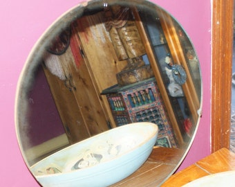 Fab Round Large Vintage Hanging Mirror