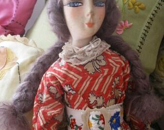 1920s vintage boudoir doll, original clothes