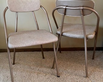 1959 Mid century modern Hamilton Cosco Stylaire folding chairs - set of two