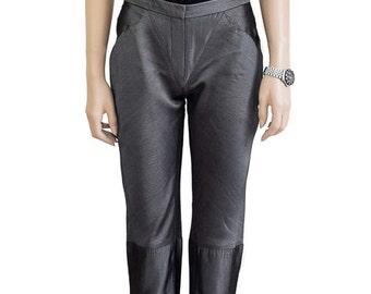Vintage Pants, Kenneth Richard Steel Gray Pants, 1990s Pants, Women's Pants, Dress Pants, Designer Pants, Women's Clothing, Sharkskin Pants
