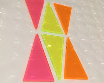 DIY 80s Neon Triangle Shape Form