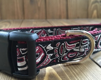 Alaskan Raven Dog Collar - 1""