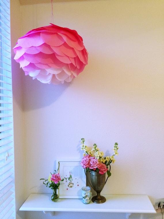 DIY Pink Ombre Hanging Paper Lantern Kit Pink Flower
