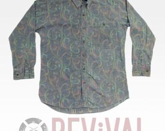Vintage Rainbow Fire Shirt ~ Size M-L