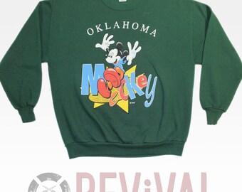 Vintage Mickey Mouse Sweatshirt ~ Size XL