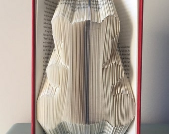 Teddy bear - Kids and children toy - Folded book art