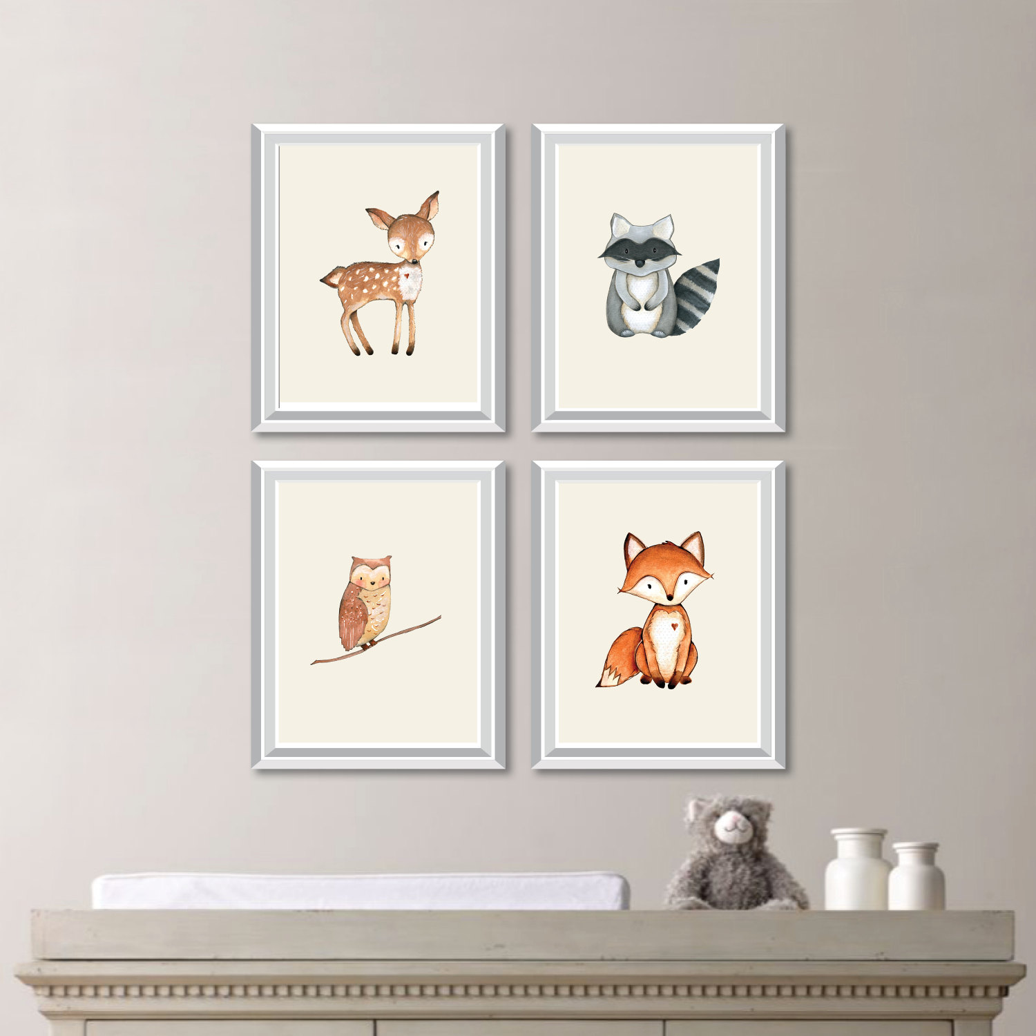 baby nursery art woodland nursery art woodland nursery decor forest animals forest friends forest nursery bedroom art canvas ns806 - Woodland Nursery Decor