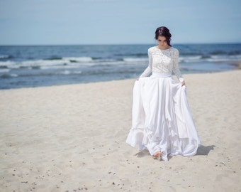 Eirene - modest wedding dress / simple wedding dress / bridal separates / two piece wedding dress / winter wedding dress
