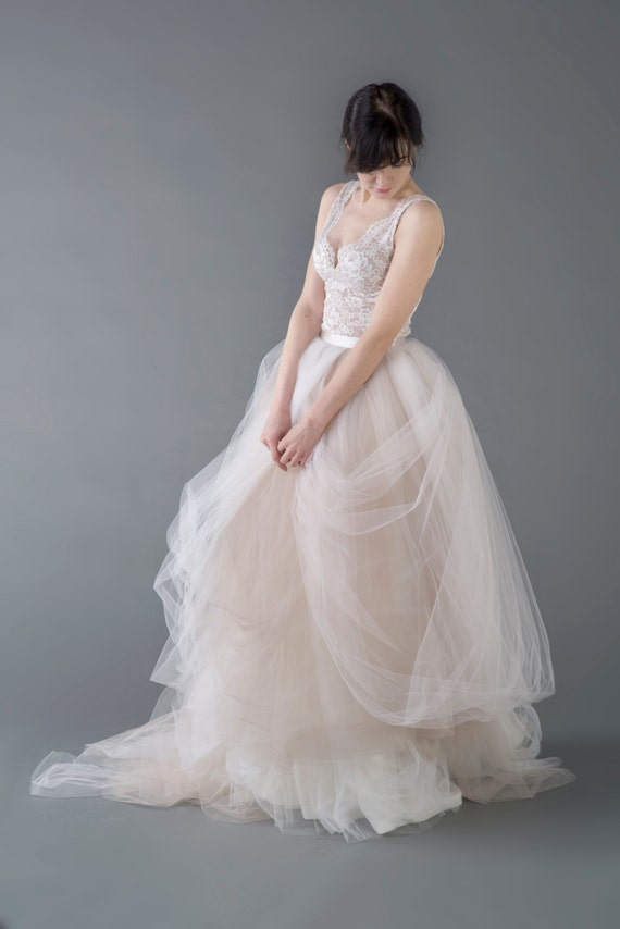 Catherine - lace and tulle wedding dress