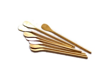 Eye pin, Gold Plated Brass Paddle Eyepin, 20 Pieces 1 Inch, 22 Gauge -  RFG028