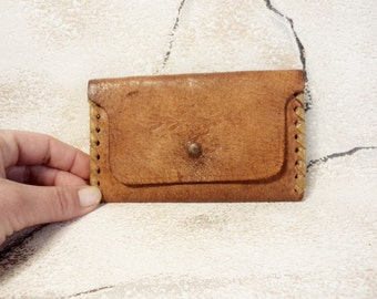 Vintage Wallet, Genuine Leather Wallet, Old Leather Wallet, Handmade Wallet, Brown leather Wallet
