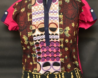 Size 16 African Print Top