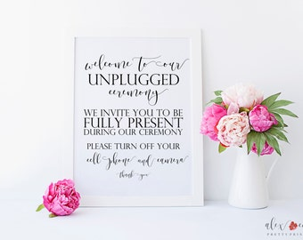 Unplugged Sign Printable. Unplugged Ceremony Sign. Unplugged Wedding Sign. Unplugged Wedding Ceremony Sign. Wedding Signs. Ceremony Sign.