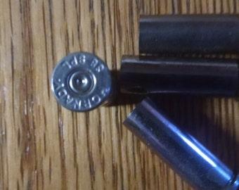 Fired Bullets, (4) 38 Special Bullet Shells, Empty Bullet Casings, Silver Casings Free Shipping