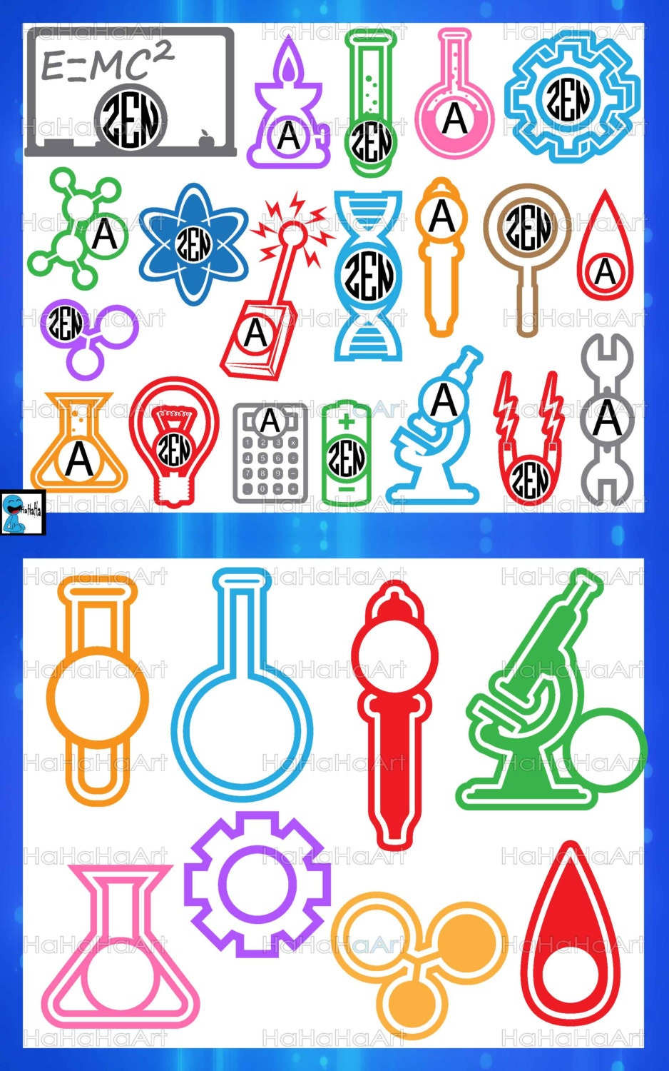 circle cool laboratory color monogram cutting files svg png