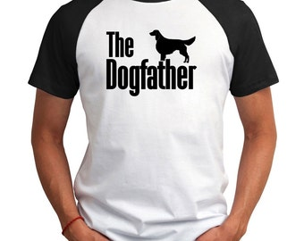 The dogfather Irish Red and White Setter Raglan T-Shirt
