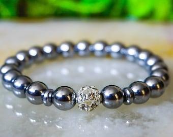 Hematite Bracelet,Mens Jewelry,Beaded Bracelet,Mens Bracelet,Gift for Him,Man Beaded Bracelet,Gemstone Bracelet Mens, Guys Jewelry, For Men