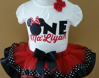 Minnie Mouse Inspired Tutu Set