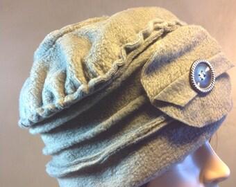 Hat / Bonnet fleece grey mouse. Unique size