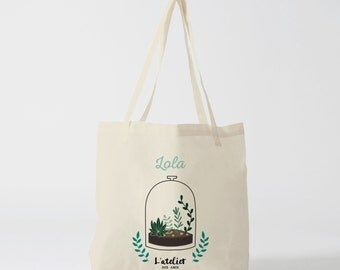 X12Y Tote bag plant, tote bag customizable, canvas bag, bag in cotton, tote bag, diaper bag, tote gift bag yoga, handbag