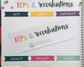 IEPs & Reevaluations Header for Erin Condren Teacher Planner