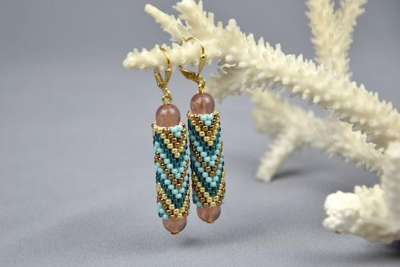 how to make dangle beaded earrings