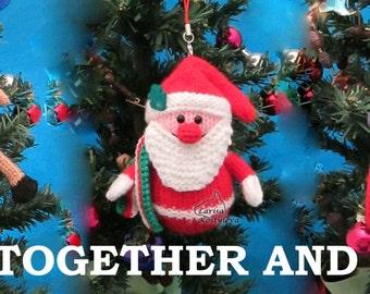 Reindeer Santa Snowman Christmas decorations, bundle pdf patterns #2