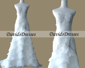 A Line Sweetheart Wedding Dresses With Sequins