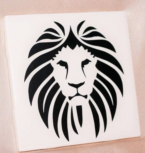 Lion Kids Decor   Lion Ceramic Tile   Customized Gifts   Home Decor   Kids  Gifts
