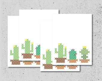 Cacti Note Cards - Set of 4