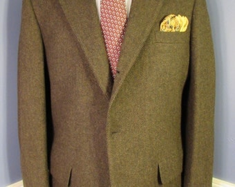 Eljo's Brown Herringbone Tweed Sport Coat