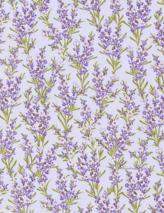 Lavender Floral Fabric Timeless Treasures Fleur C2985