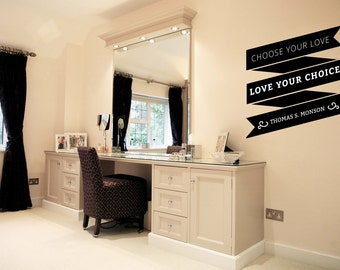 Choose Your Love Love Your Choice LDS Quotes Vinyl Wall Decoration for Home House Decor
