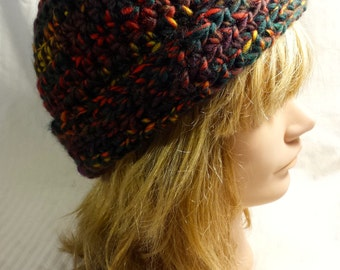 Red, Green, Brown, Wool Beanie