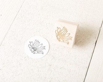 Wild Flower - Floral Rubber Stamp