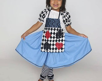 Alice in Wonderland dress, apron, blouse
